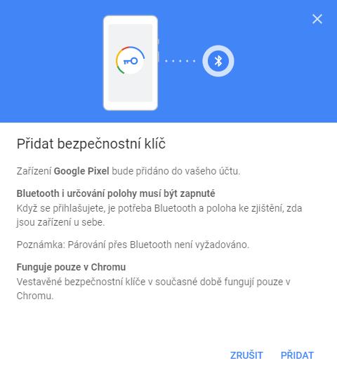 Bluetooth iurčování polohy musí být zapnuté, funguje pouze vChrome,zatím