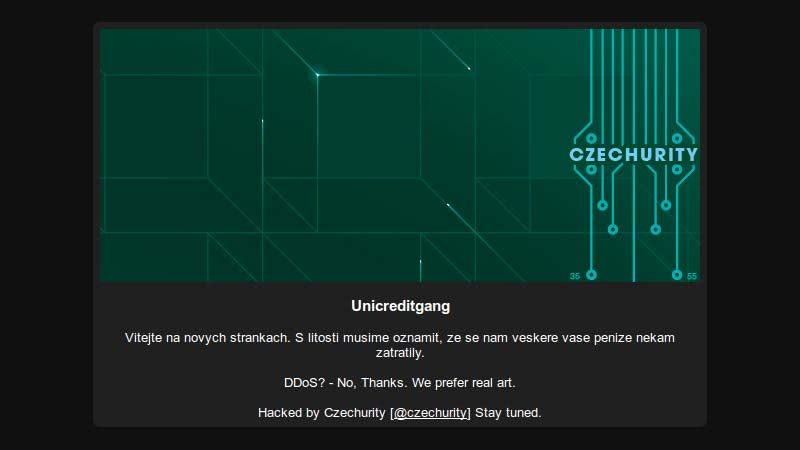 Unicreditgang hacked by Czechurity
