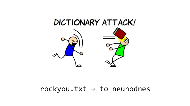 "A password from the rockyou.txt wordlist: ""to neuhodnes"""