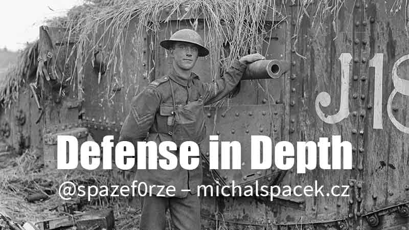 Defense in Depth (fotografie Q 9248 ze sbírek Imperial War Museums)
