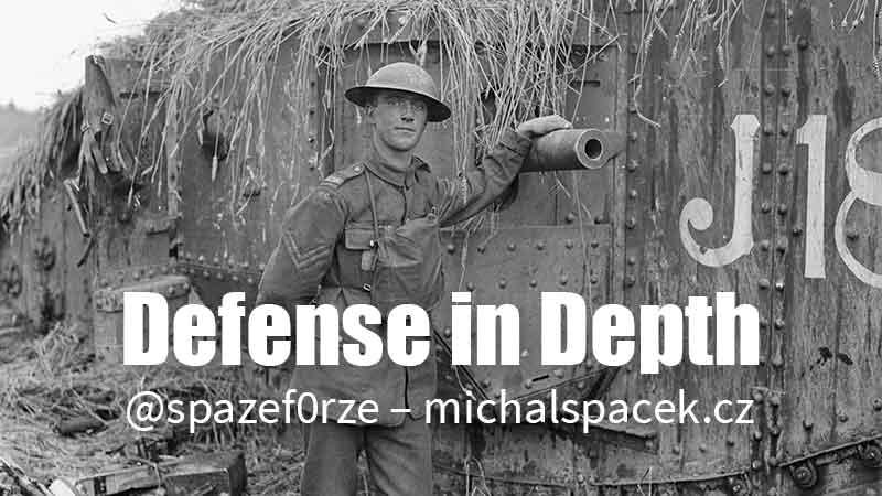 Defense in Depth (fotografie Q 9248 ze sbírek Imperial War Museums)