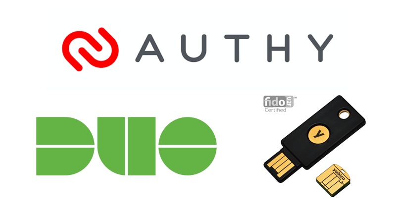 Authy, Duo Security, YubiKey