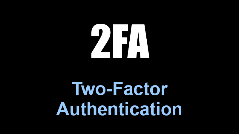 2FA Two-Factor Autentication