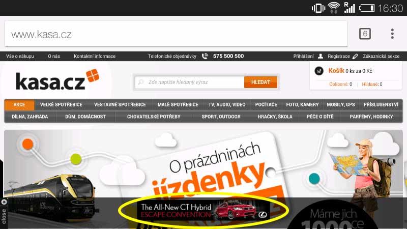 Cizí banner na kasa.cz