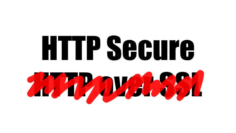 HTTP Secure, ne HTTP over SSL