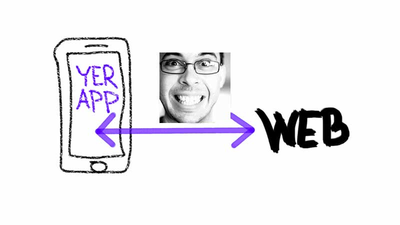 App ↔ mizera ↔ web
