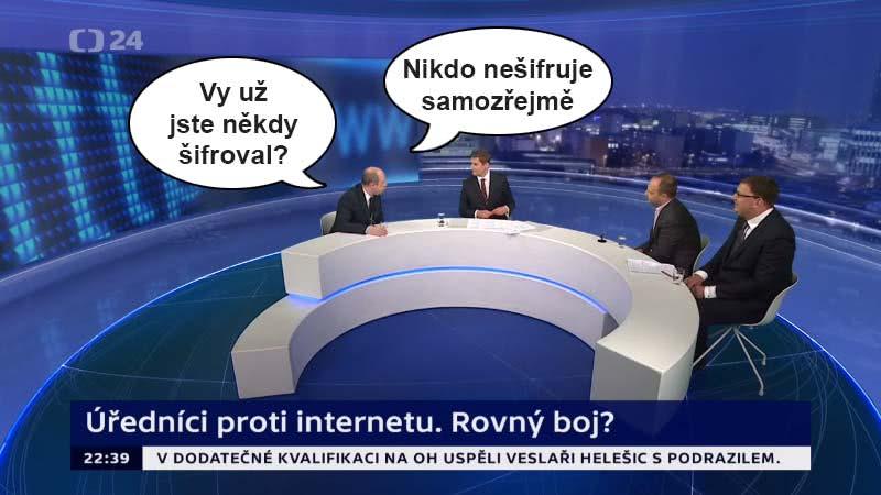 """Ondřej Závodský: """"Vy už jste někdy šifroval? Nikdo nešifruje samozřejmě."""""""