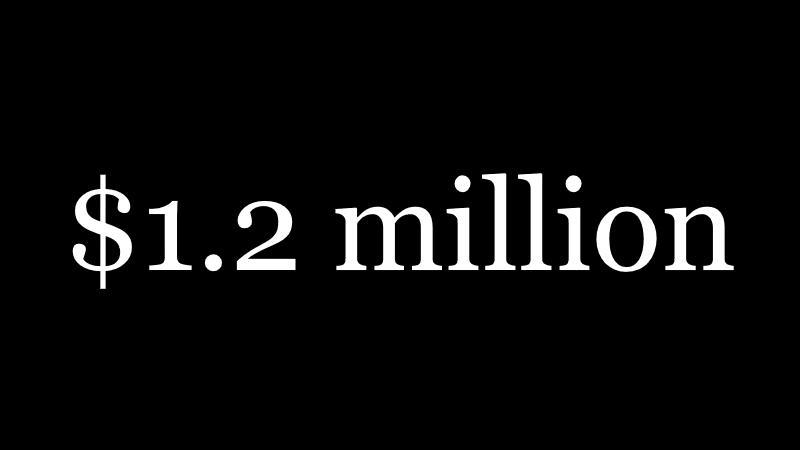 $1.2 million