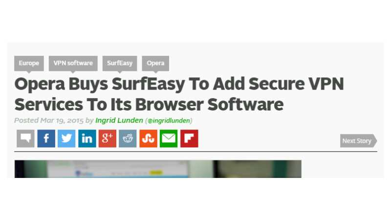Opera Buys SurfEasy To Add Secure VPN Services To Its Browser Software