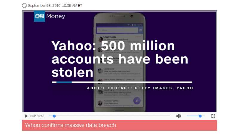 Yahoo: 500 million accounts have been stolen