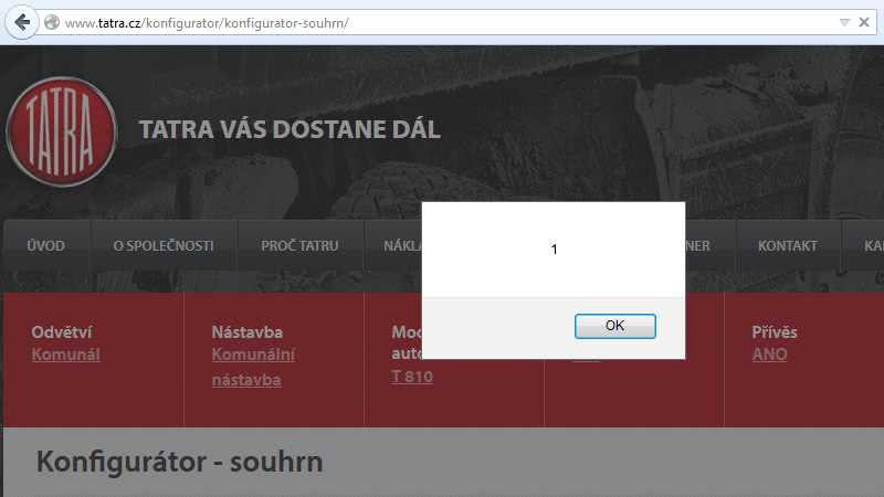 Tatra vás dostane dál – alert(1)