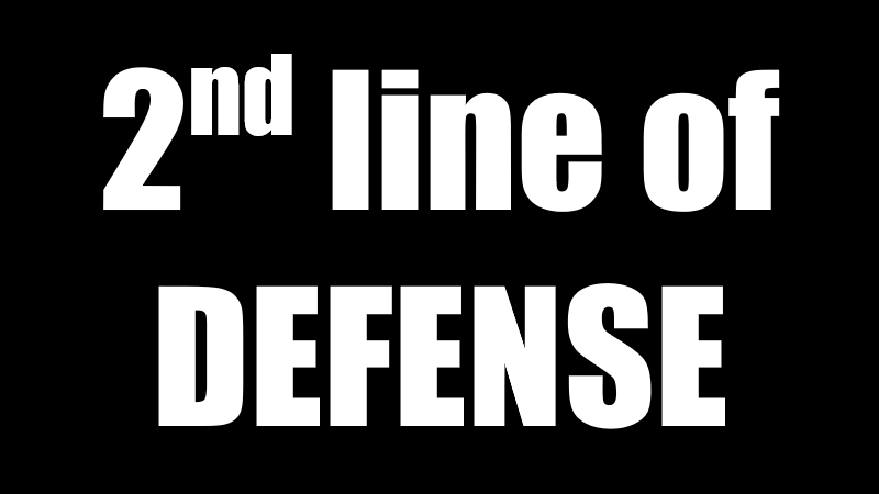 2ⁿᵈ line of defense