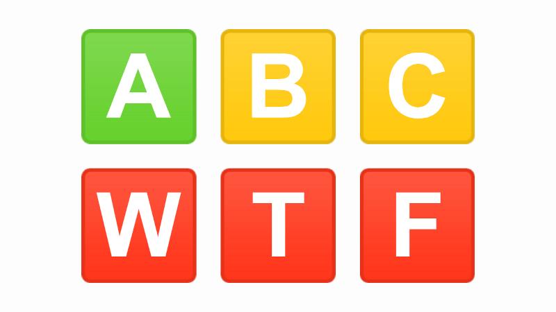 A B C W T F
