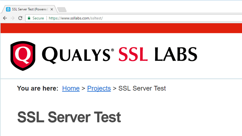 Qualys SSL Labs Server Test
