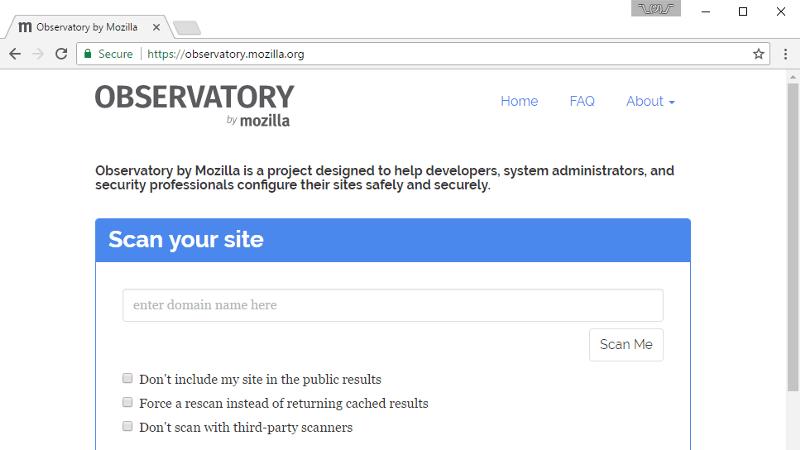 Observatory by Mozilla