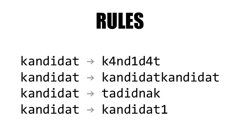 Pravidla pro přidání více kandidátů