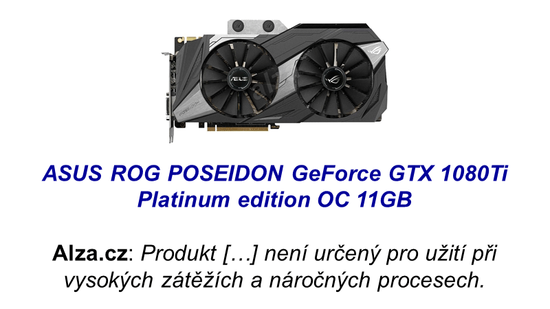 ASUS ROG POSEIDON GeForce GTX 1080Ti Platinum edition OC 11GB