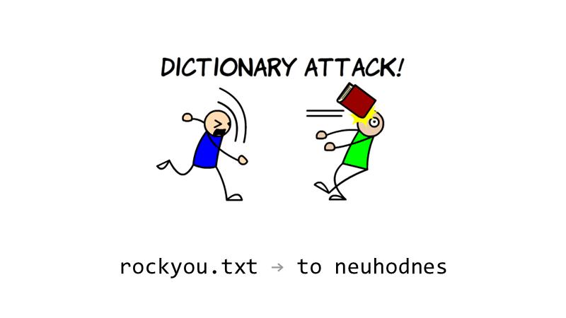 """Heslo ve slovníku rockyou.txt: """"to neuhodnes"""""""