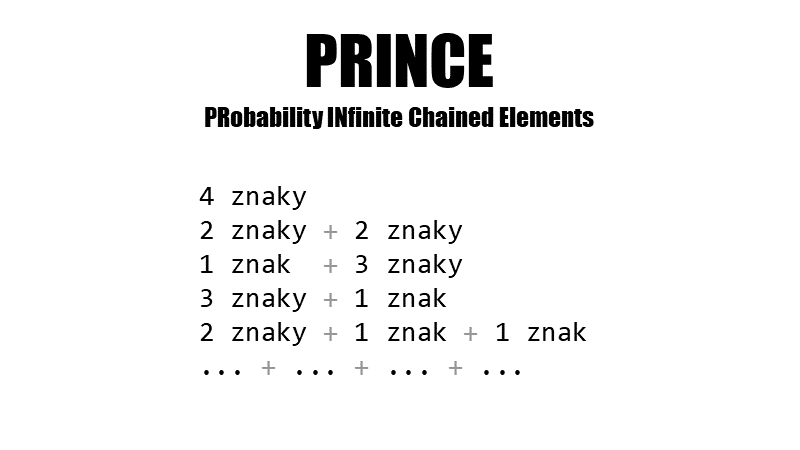PRINCE (PRobability INfinite Chained Elements)