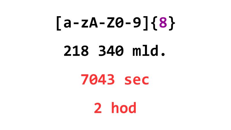 [a-zA-Z0-9]{8}: 218 340 mld., 7043 sec, 2 hod